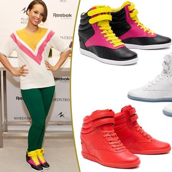 Reebok Alicia Keys Wedge Sneakers. M 5ab302692ab8c546747df7c6 6c4fea591